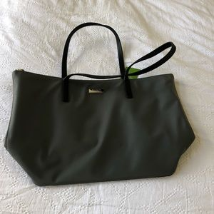 Kate Spade Charcoal Grey Zippered Tote Bag NWT